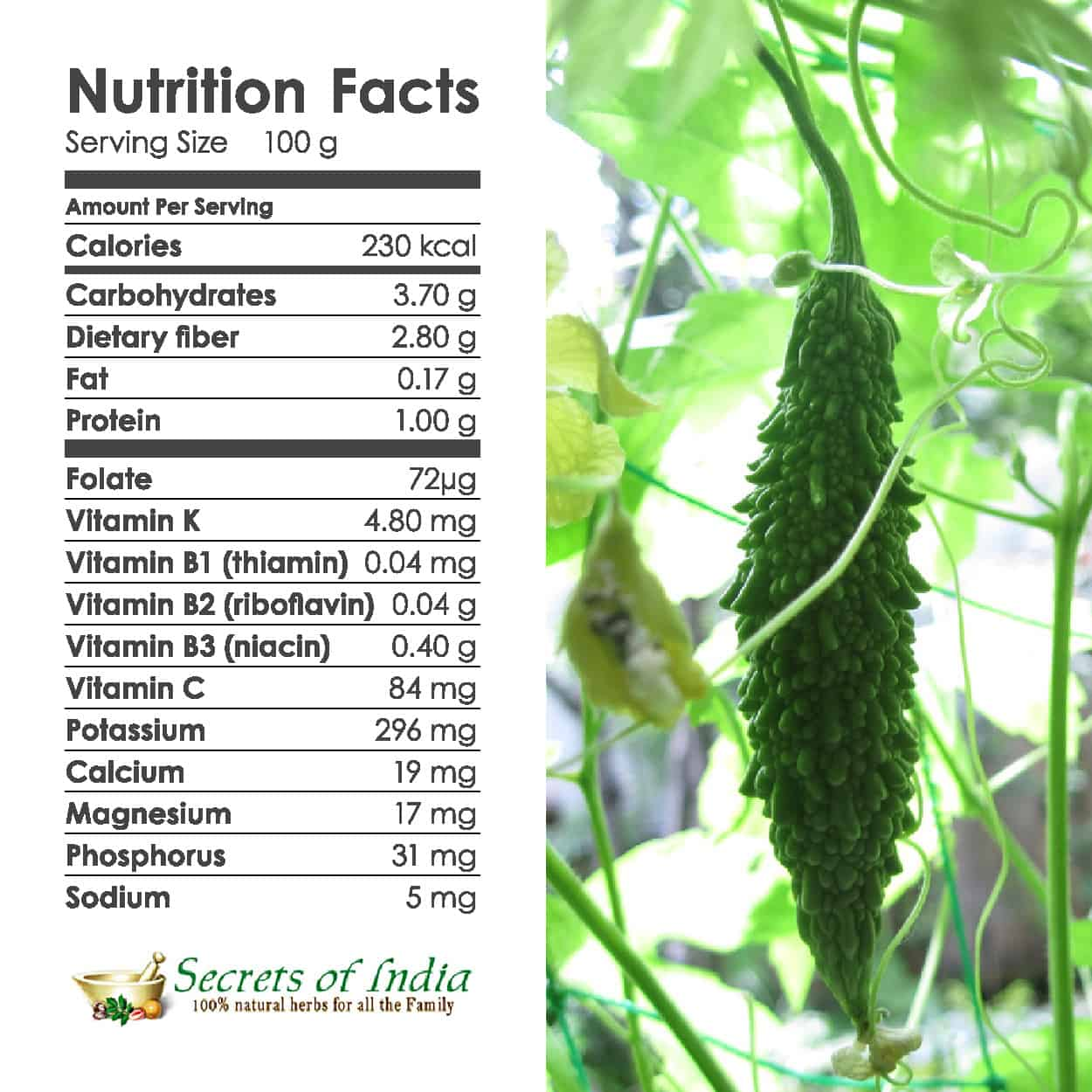 bitter melon nutrition facts essay The benefits of bitter leaf bitter melon gourd: more nutrients raw or cooked coffee bean & tea leaf nutrition information.